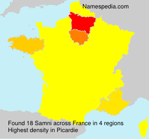 Surname Samni in France