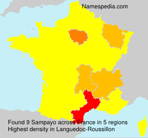 Surname Sampayo in France