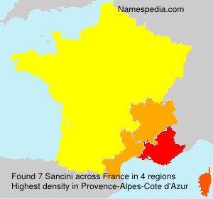 Surname Sancini in France
