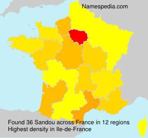 Surname Sandou in France