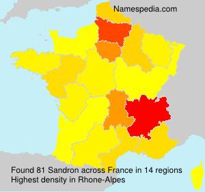 Surname Sandron in France