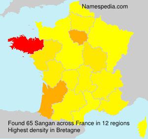 Surname Sangan in France