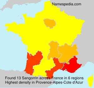 Surname Sangorrin in France