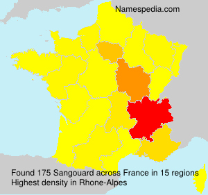 Surname Sangouard in France