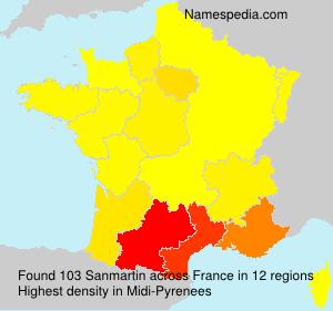 Familiennamen Sanmartin - France
