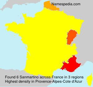 Surname Sanmartino in France