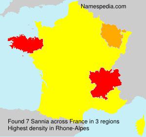 Familiennamen Sannia - France
