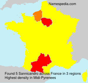 Surname Sannicandro in France