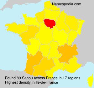 Familiennamen Sanou - France