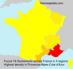 Familiennamen Santantonio - France