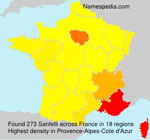 Surname Santelli in France