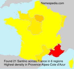 Familiennamen Santino - France