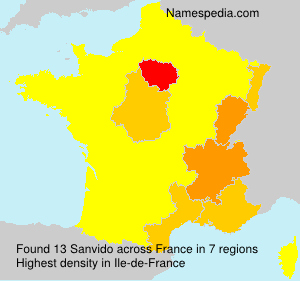 Surname Sanvido in France