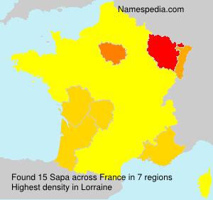 Familiennamen Sapa - France