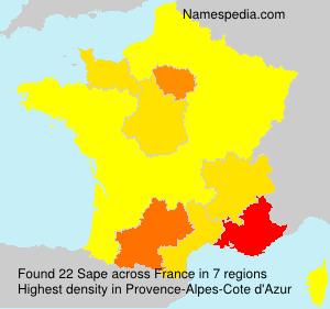 Surname Sape in France