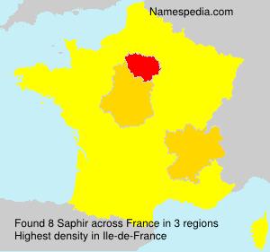 Surname Saphir in France