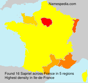 Surname Sapriel in France