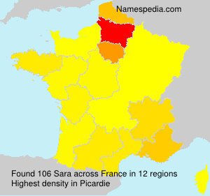 Surname Sara in France
