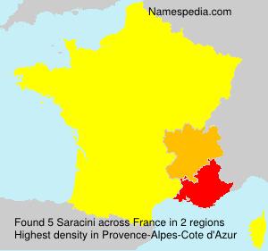 Surname Saracini in France
