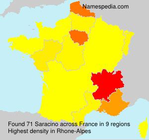 Familiennamen Saracino - France