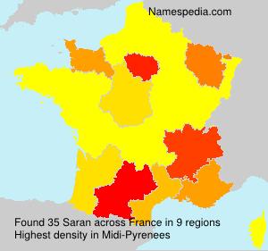 Surname Saran in France