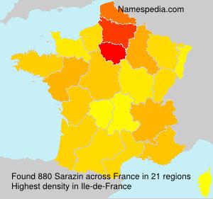 Surname Sarazin in France