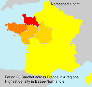 Surname Sarchet in France