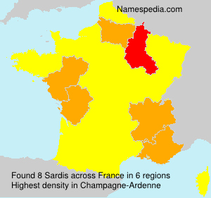 Surname Sardis in France