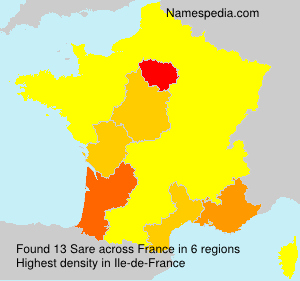 Surname Sare in France