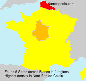 Surname Sarec in France