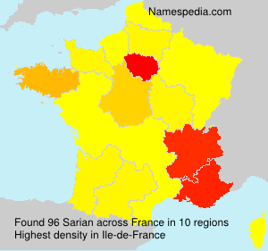 Surname Sarian in France