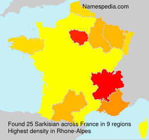 Surname Sarkisian in France
