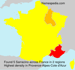 Surname Sarracino in France