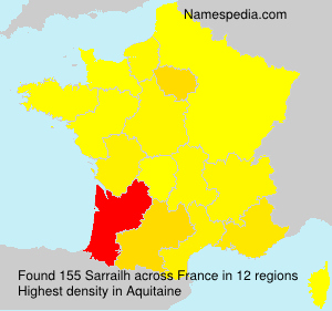 Surname Sarrailh in France