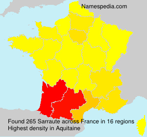 Surname Sarraute in France