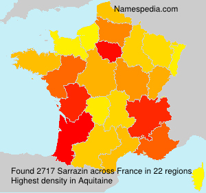 Surname Sarrazin in France