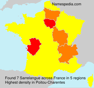 Surname Sarrelangue in France