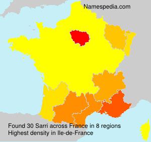 Surname Sarri in France