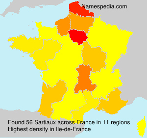 Surname Sartiaux in France