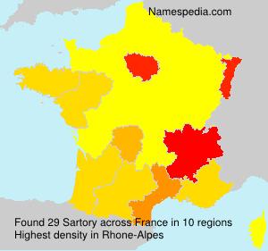 Familiennamen Sartory - France