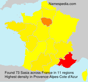 Surname Sasia in France