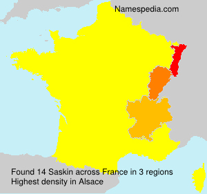 Surname Saskin in France