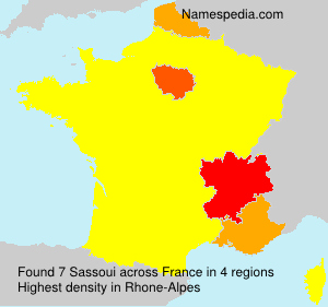 Surname Sassoui in France