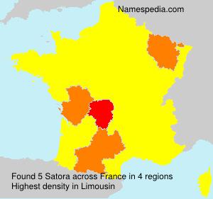 Familiennamen Satora - France