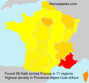 Surname Satti in France