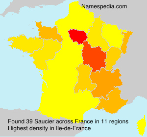 Familiennamen Saucier - France