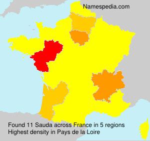 Surname Sauda in France