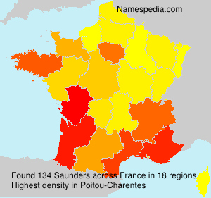 Surname Saunders in France