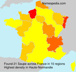 Surname Saupe in France
