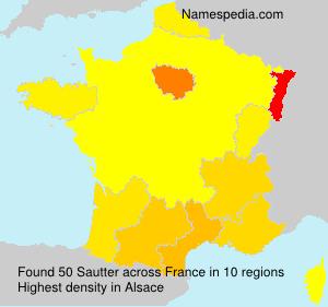 Familiennamen Sautter - France